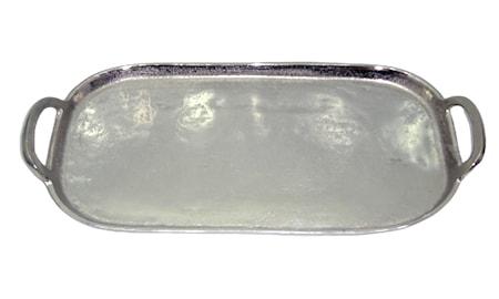Sari Serveringsbrett ovalt aluminium håndtak 41x19,5x4