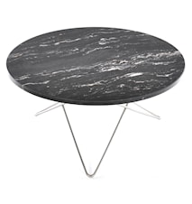 O table sofabord - black brazil marmor/rustfritt