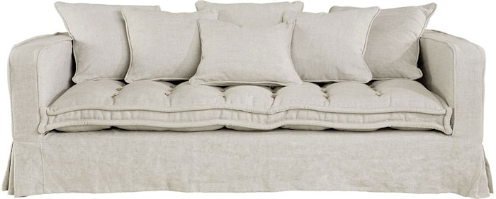Greenwich 3-sits soffa - Sandfärgad
