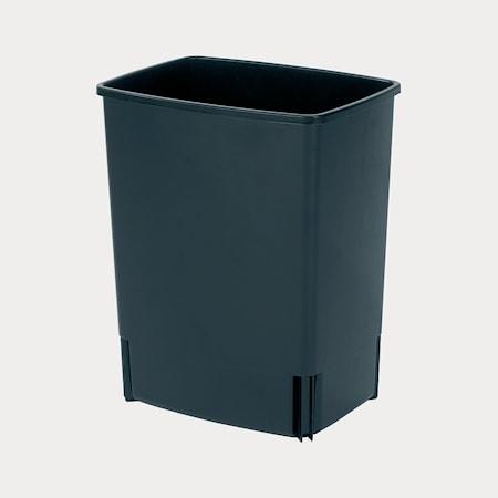 Affaldsspand, rektangulær (inkl vægfæste) 10 L Sort