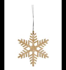 Joulukuusenkoriste Snowflake - Kulta