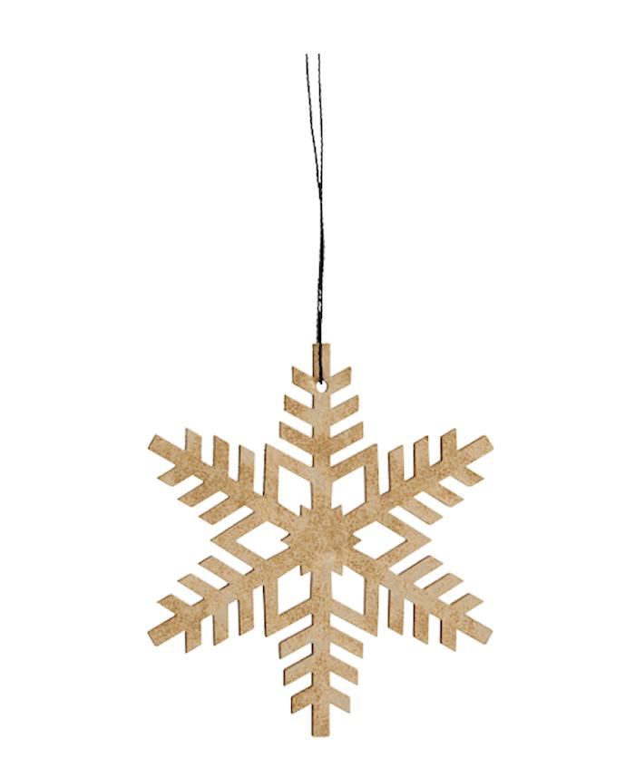 Julgransdekoration Snowflake - Guld