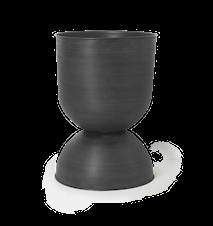 Hourglass Blomkruka Stor Svart/Mörkgrå