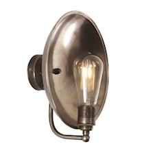 Cullen industrial dish vägglampa – Antique silver