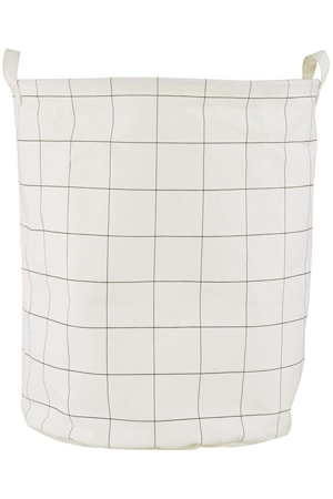 Pesukori Squares Ø 40x50 cm - Valkoinen/Musta