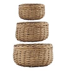 Kurv Baskets 3stk - Natur