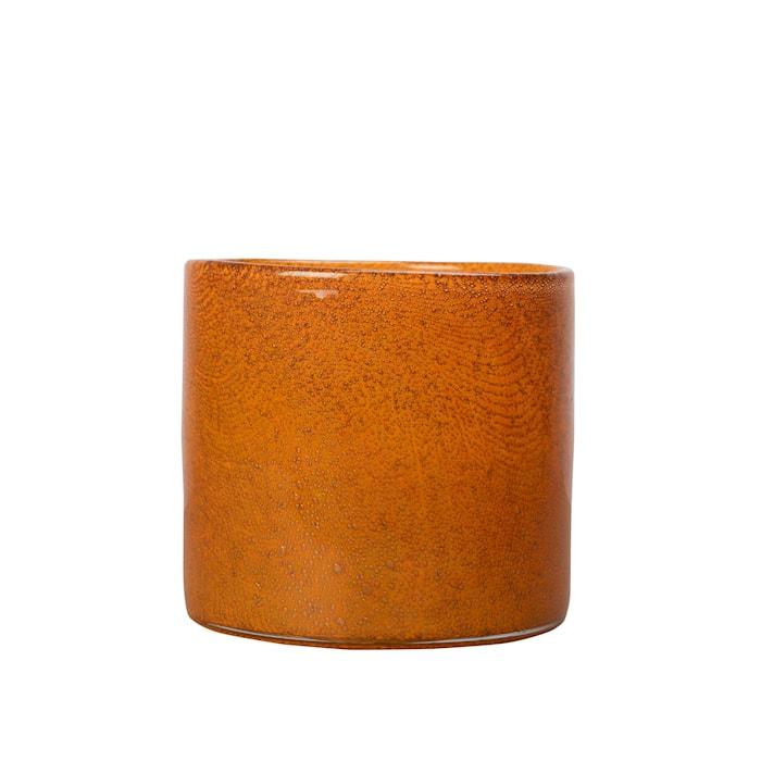 Vase / lyslykt Oransje 15 cm