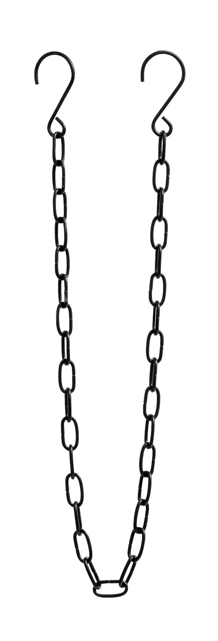Catena in metallo nero opaco 80 cm