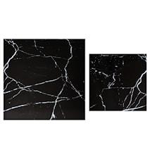 Stella Toppskiva, satsbord, , svart marmorglas (set om 2)