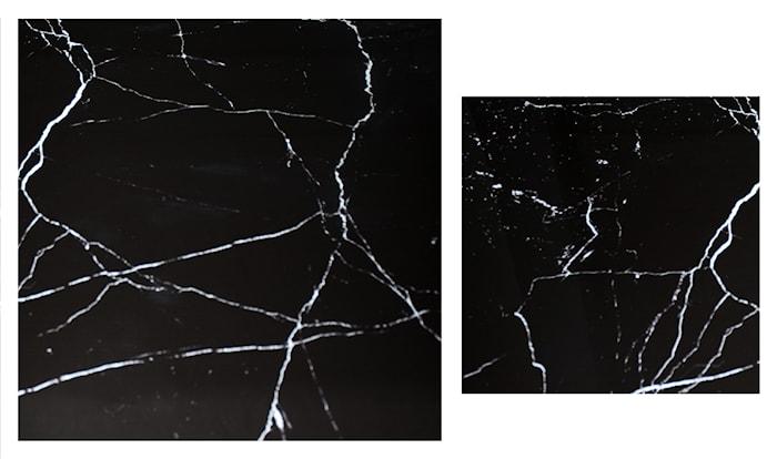 Stella Kjøkkenbenk, sofabord, svart marmorglass