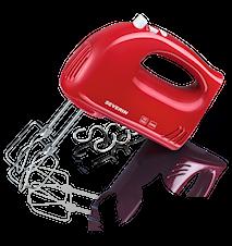 Håndmixer Rød Med Dejkroge 300W