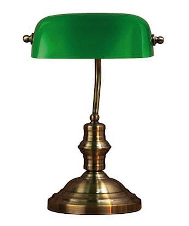 Bankers Bordslampa Grön 42cm