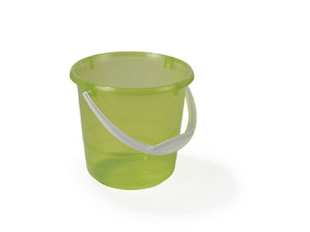 Plastbøtte 5L Transparent/Grønn