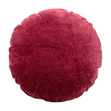 Billede af Pude Rød Fløjl 45cm