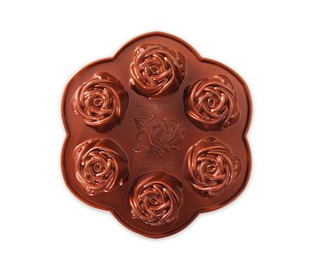 Rosebud pan Bakform Aliminium Koppar