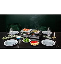 Raclettegrill Natursten Deluxe, 8 Pander