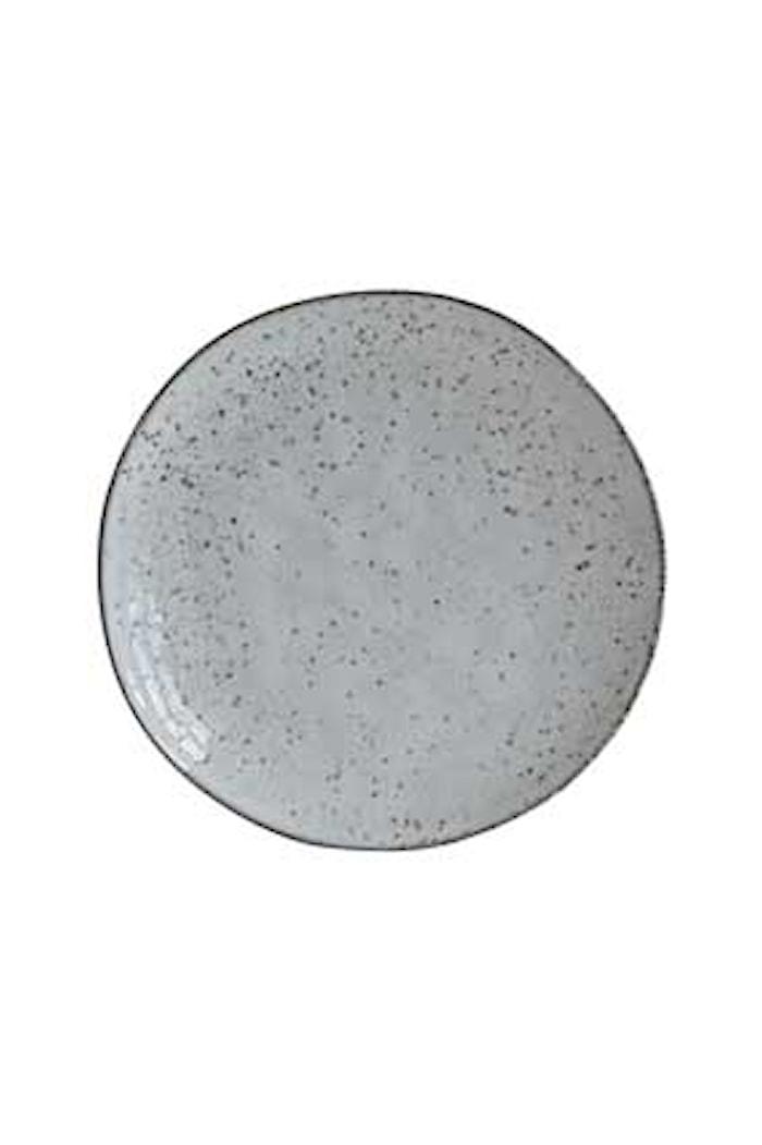 Tallerken Rustic Ø 20,5x2,8 cm - Grå/Blå