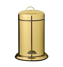 Skraldespand Guld Metal 22x29,5cm