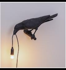 Bird Lamp Looking Svart