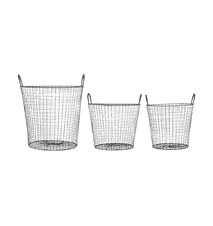 Wire Kurv Sort 3-pack