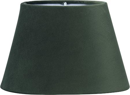 Lampeskjerm Oval Fløyel Smaragd