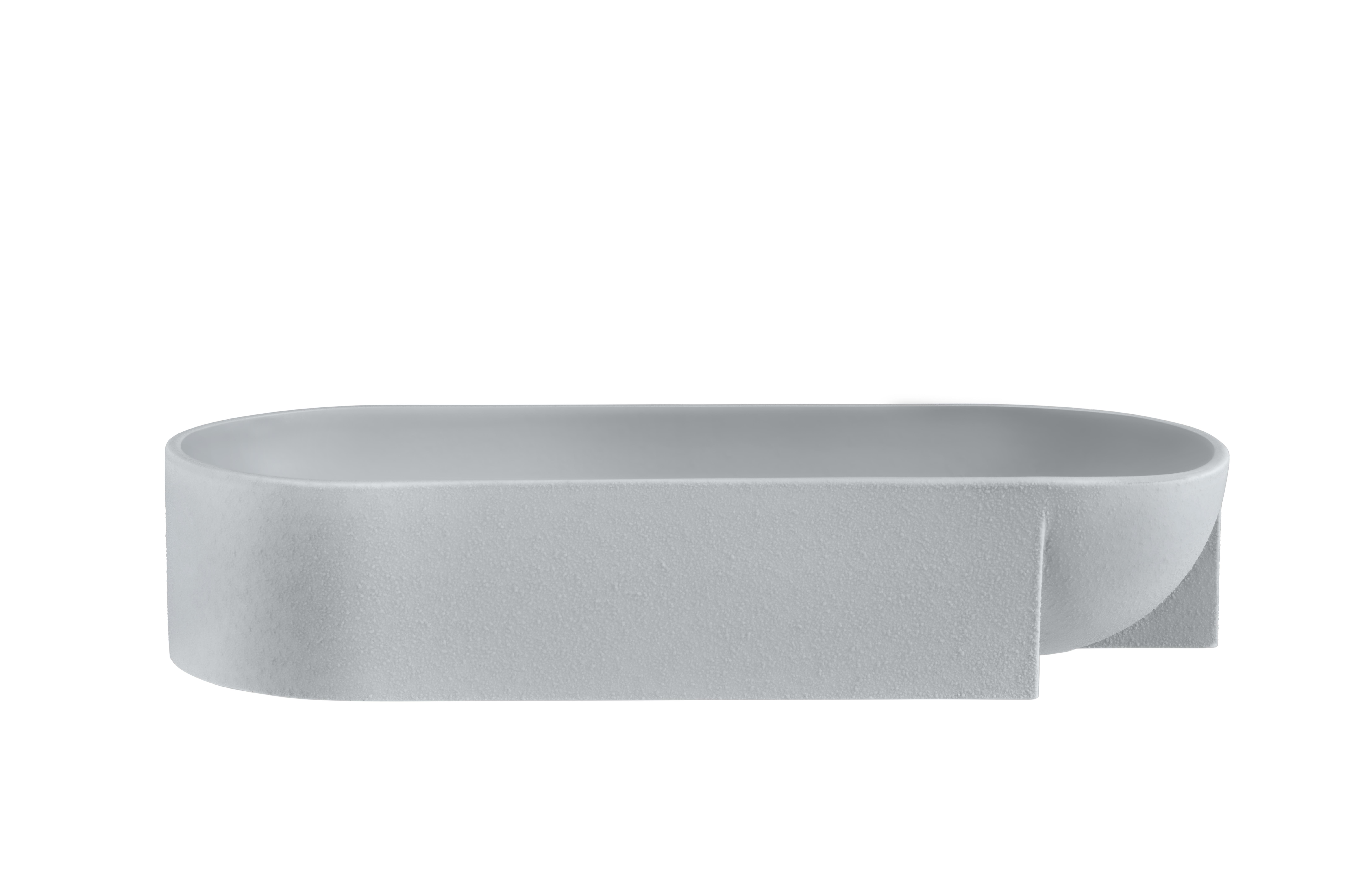Kuru Skål Ljusgrå 37×75 cm