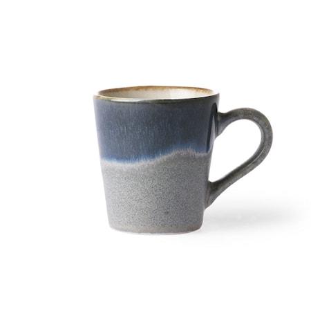 70's Espressokuppi Harmaa ja Sininen 80 ml