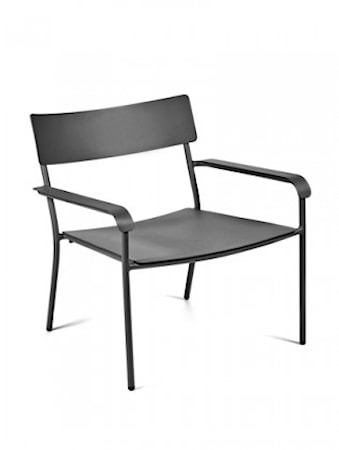 August Lounge Chair Svart