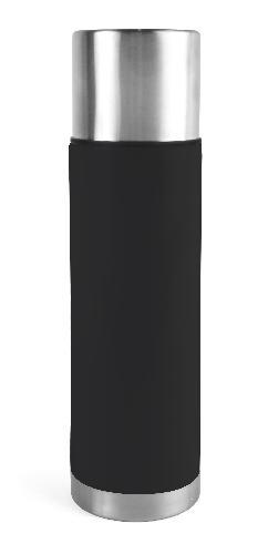 Ståltermos 075 L stål/svart