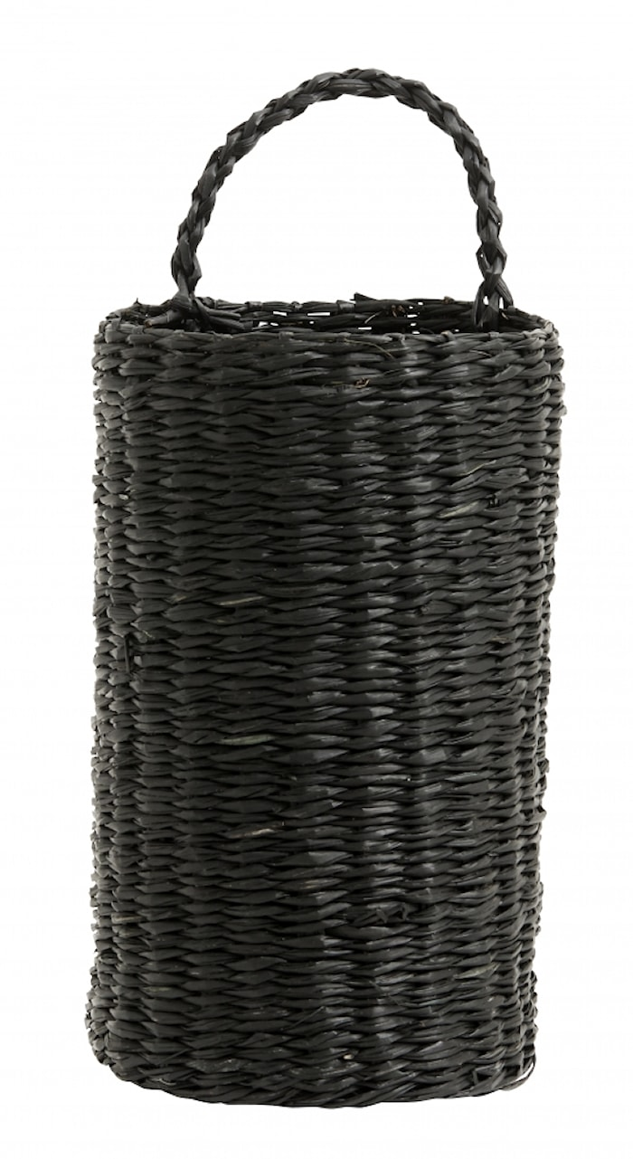 Rottingkorg/Flaskhållare Svart 20cm