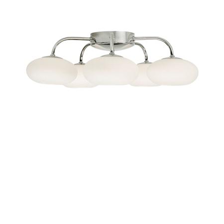 Bullo Plafond Krom/Opalglas