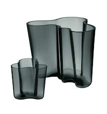 Aalto Vase Geschenkset 160+95 mm Dunkelgrau