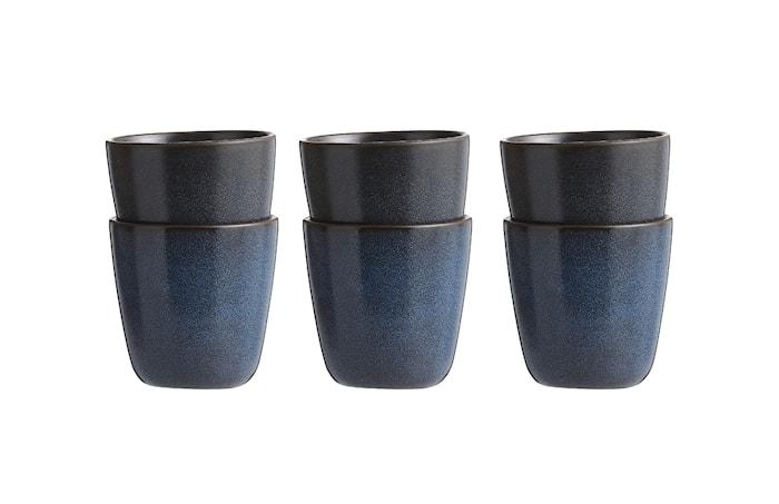 Raw Krus Midnight Blue 6 stk. 30 cl