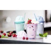 Sweet milkshake med sugerør, grønn
