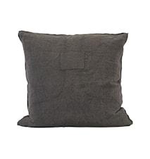 Housse de coussin Patch marron 60 x 60 cm