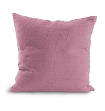 Federa in lino - rosa antico 60x60 cm