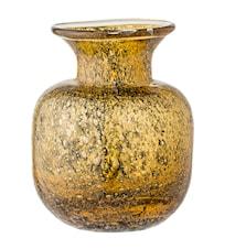 Vaso in vetro oro/marrone