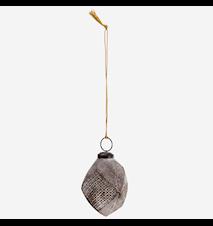 Glasskule Hengende Brun/Gull