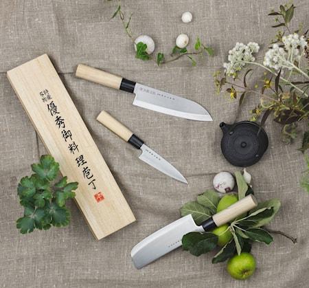 Houcho Knivset 3 delar med Balsabox