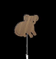 Koala Vägglampa Smoked Oak