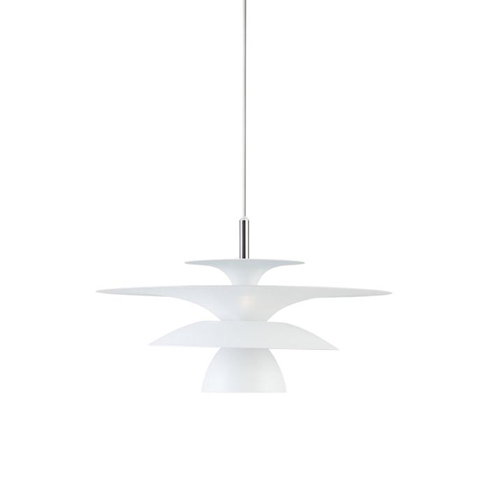 Picasso Pendel Mattvit LED 38 cm