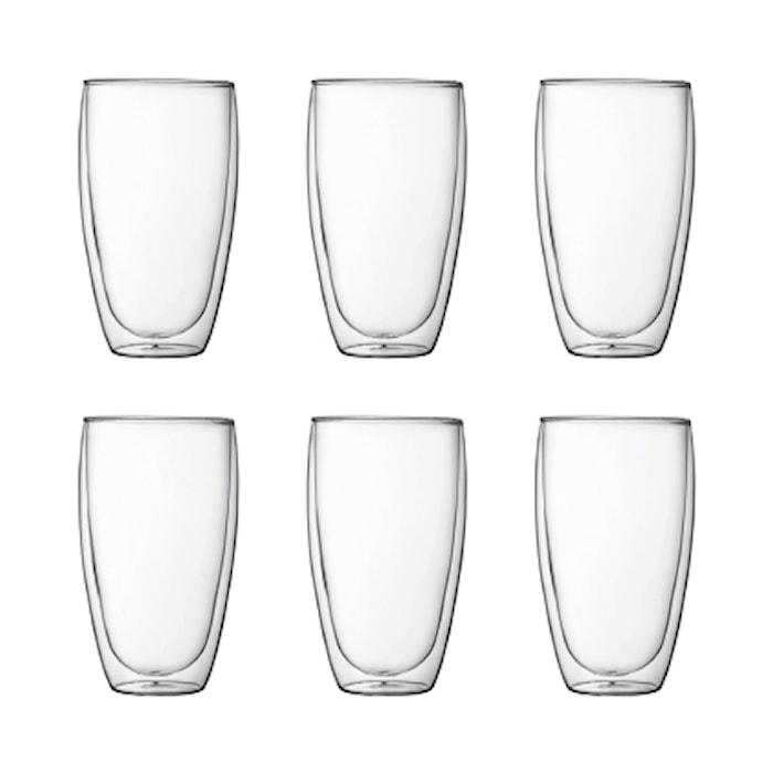 Pavina Dubbelväggat Glas 6 st 45 cl