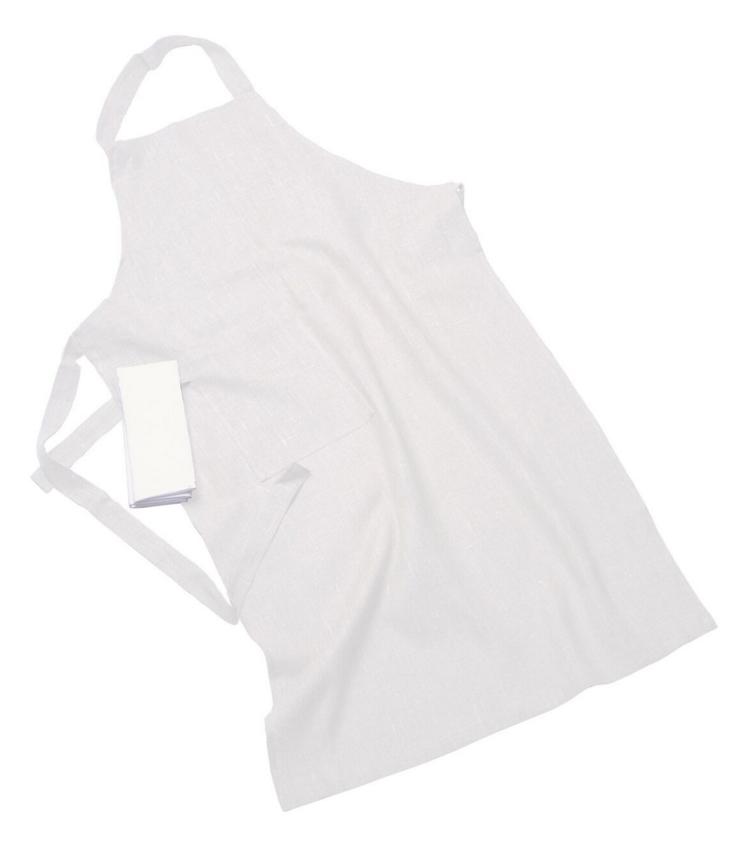 Erik classic lång förkläde – Med handduk off-white