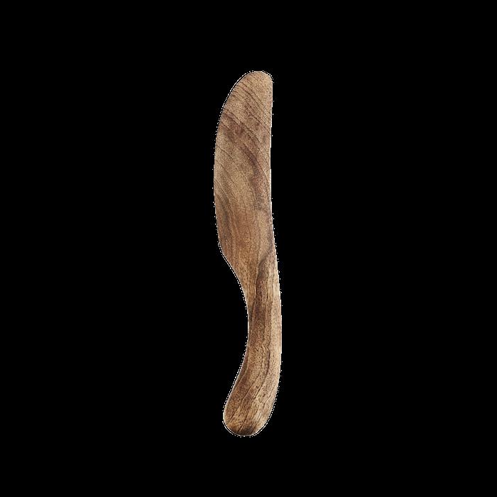 Träkniv Böjd Mangoträ 18cm