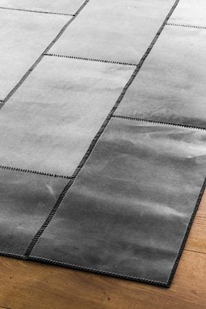 Leather Harmaa Matto - 150x210