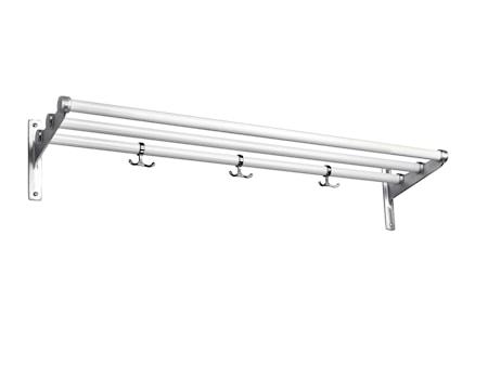 Nostalgi vit/aluminium L=1000 mm hatt/skohylla