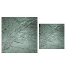 Stella Topplade, satsbord, grønt marmorglas (sæt af 2)