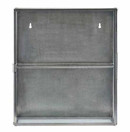 Kabinett 40x35x15 cm Glas/stål