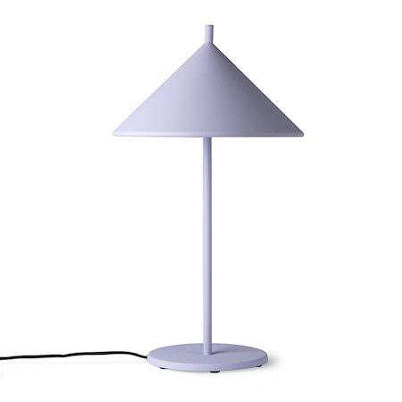 Metal triangle Bordslampa M Matt lilac
