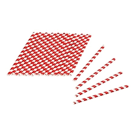 Tala Straw of Paper Red/White Striped